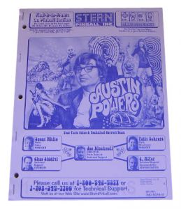 Pinball Life: Stern Austin Powers Manual