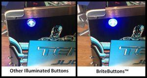 Pinball Life: BriteButtons Illuminated Flipper Button Set